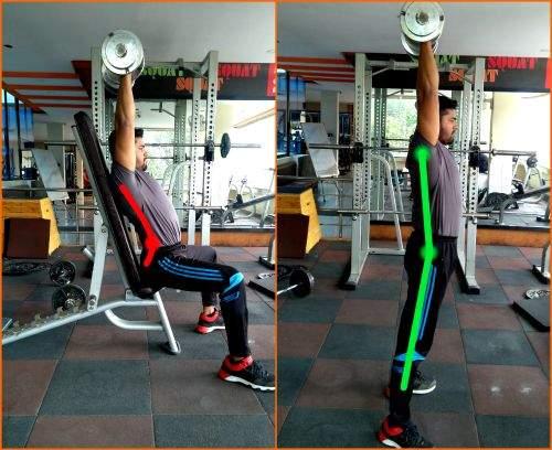 Seated dumbbell shoulder press is bad for your back