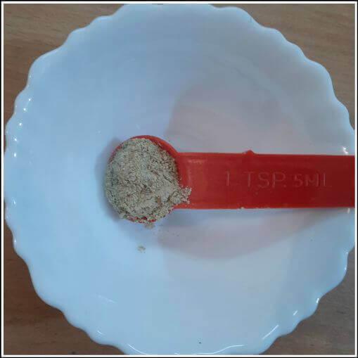 One teasppon of chaat masala