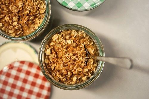 Cooked oats have low glycemic score and good for weight loss.