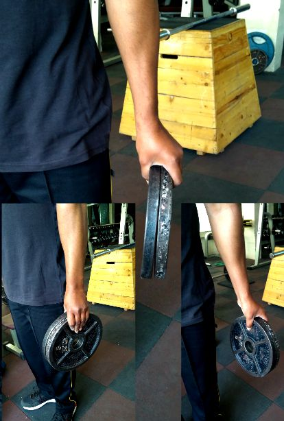 Plate pinch exercise can increase finger strength to grip hard objects.