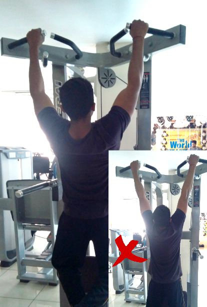 Dead hang exercise to increase forearm and grip strength