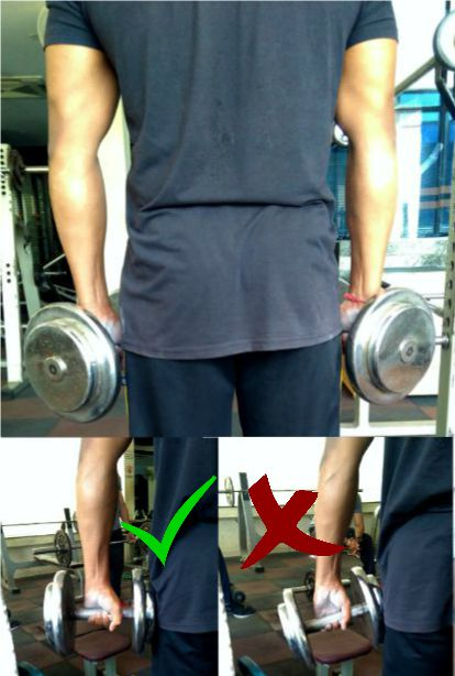 Dumbbell static hold to increase your forearm and grip strength